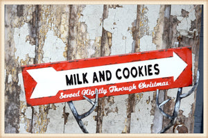 Milk and Cookies Sign - Seasonal-Holiday