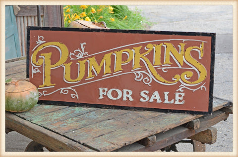Orange Pumpkin Gloss Sign - Seasonal-Fall