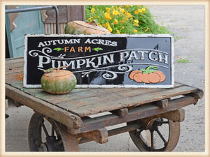 Black Pumpkin Gloss Sign - Seasonal-Fall