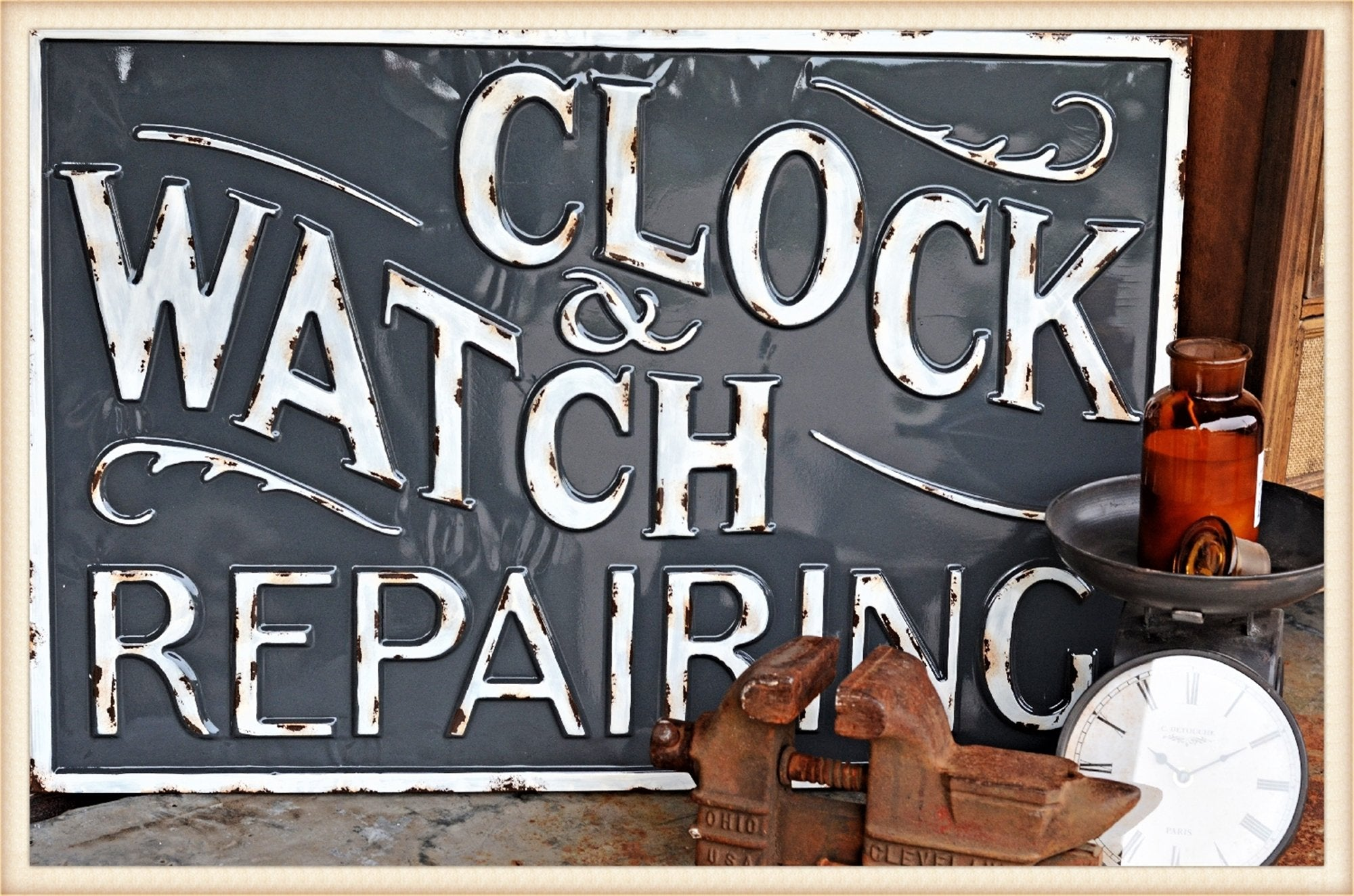 Watch Repair Gloss Sign