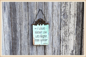 Regret Plaque