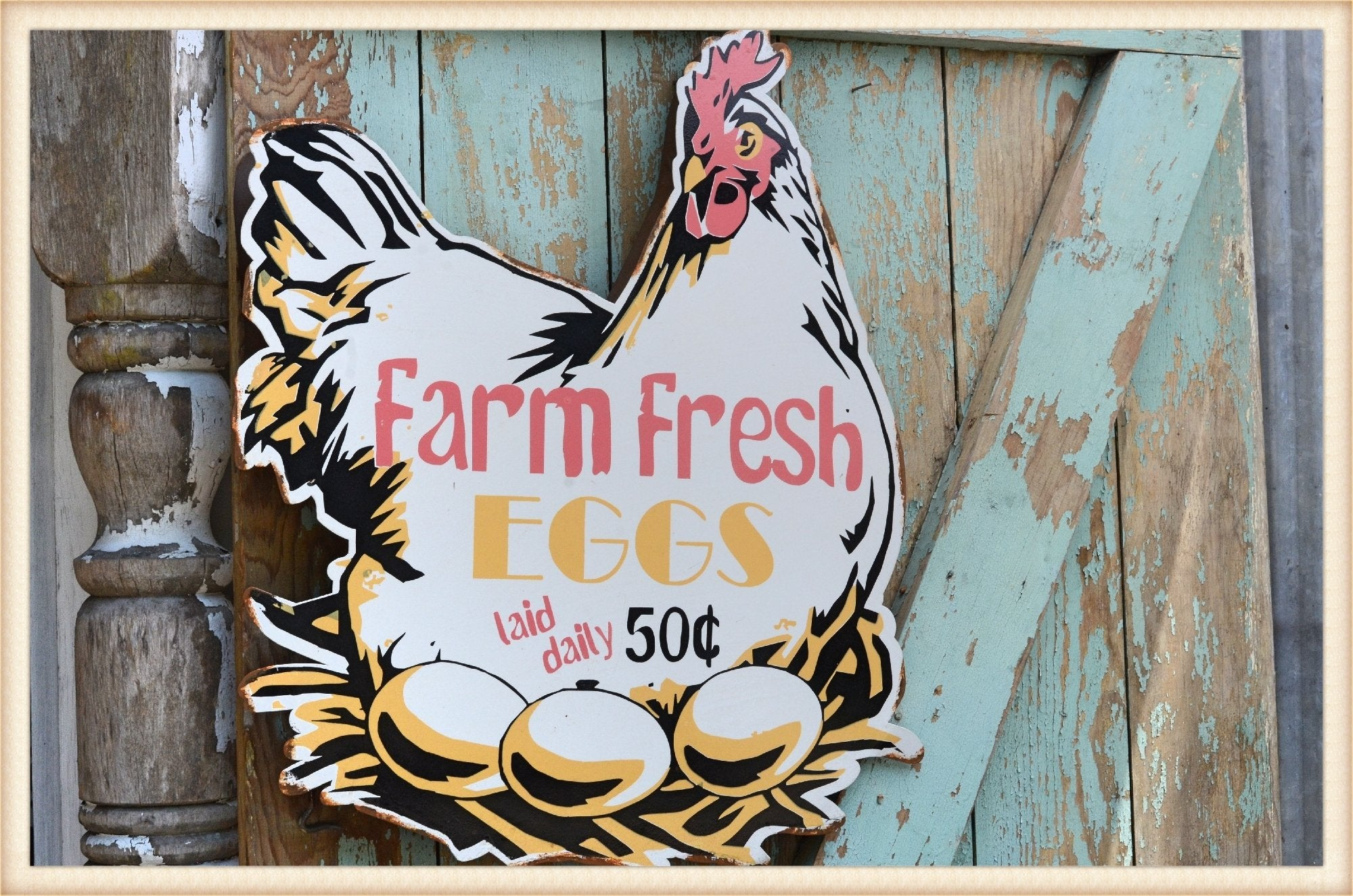 Farm Fresh Hen Sign