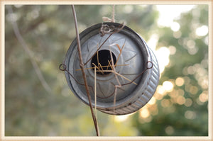 Round Tin Bird House