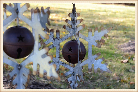 Metal Snowflake Lg - Seasonal-Holiday