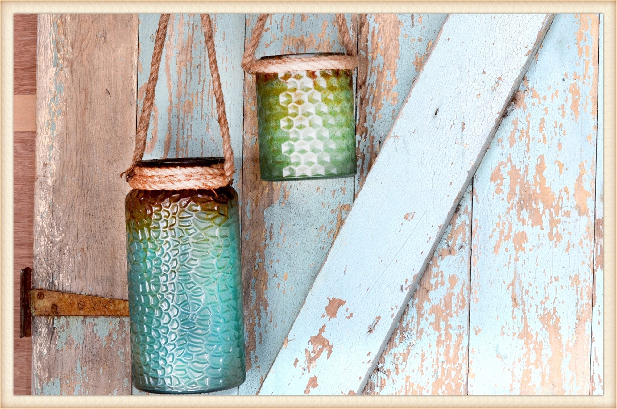 Rope Handle Jars S/2