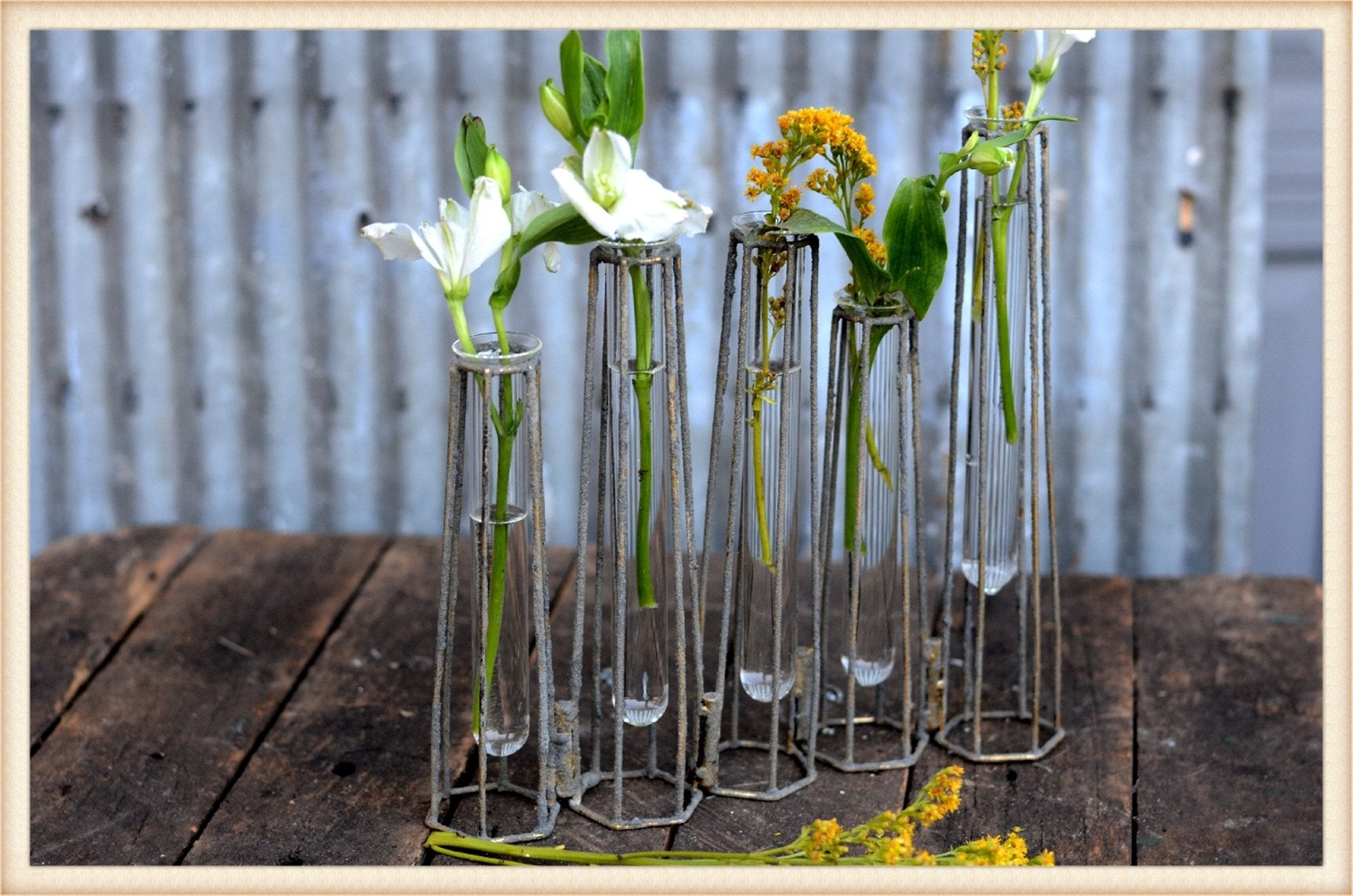 Test Tube Swivel Vase