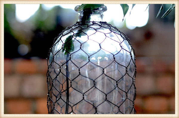 Pick Up Only! Tall Wire Wrapped Bottle