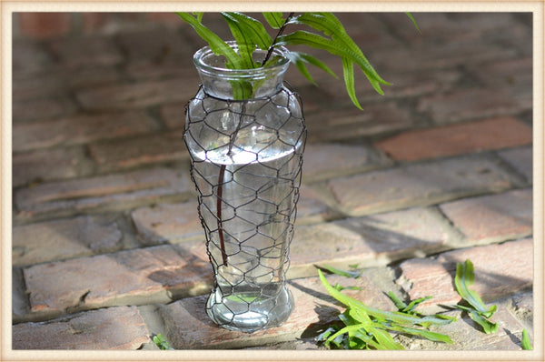 Wire Wrapped Vase-Pick Up Only
