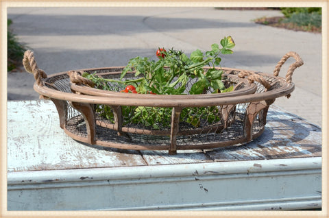 Woven Wire Basket S/3