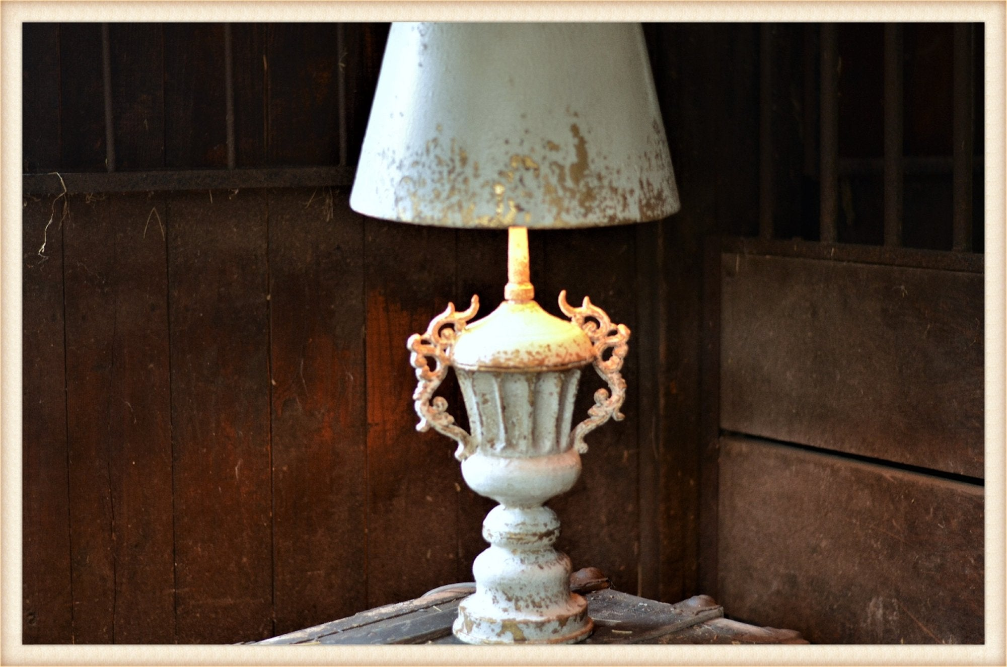 Handled Urn Lamp