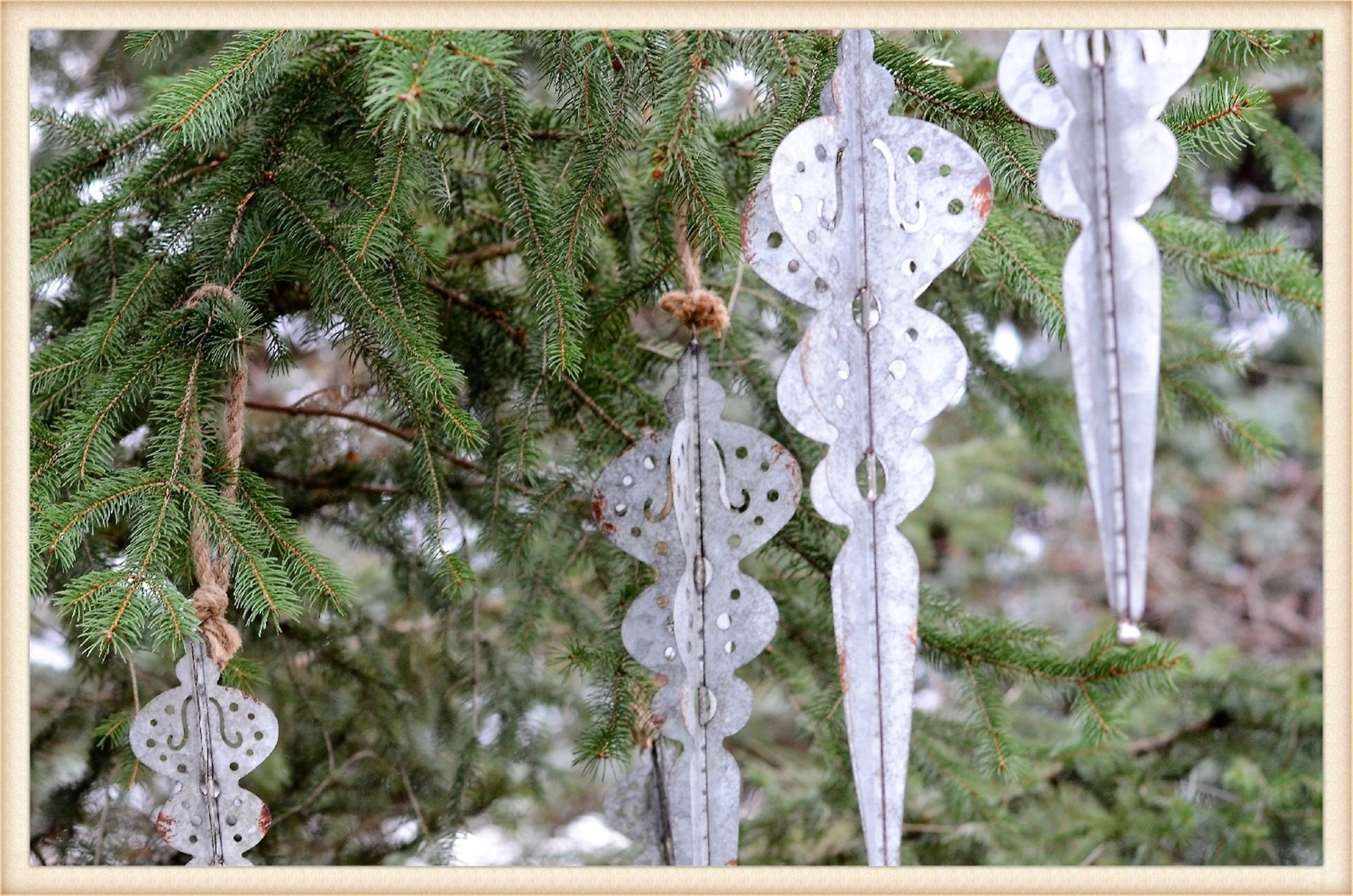 Metal Icicle Ornament Lg - Seasonal-Holiday