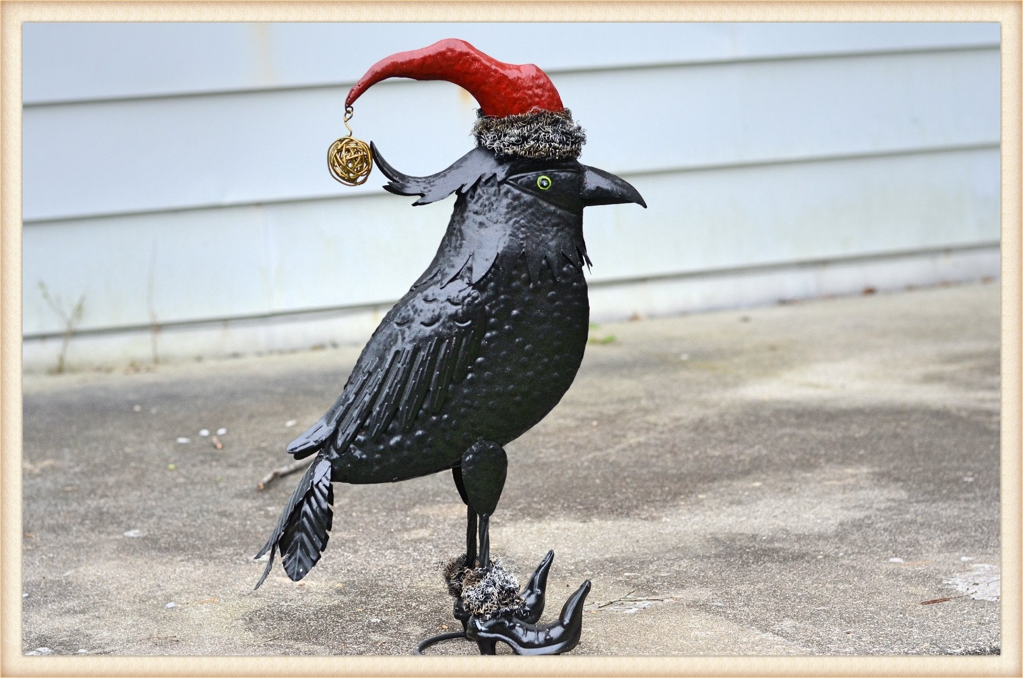 Santa Hat Crow - Seasonal-Holiday