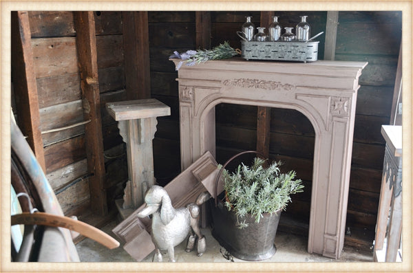 Pick Up Only-Carved Mantel*