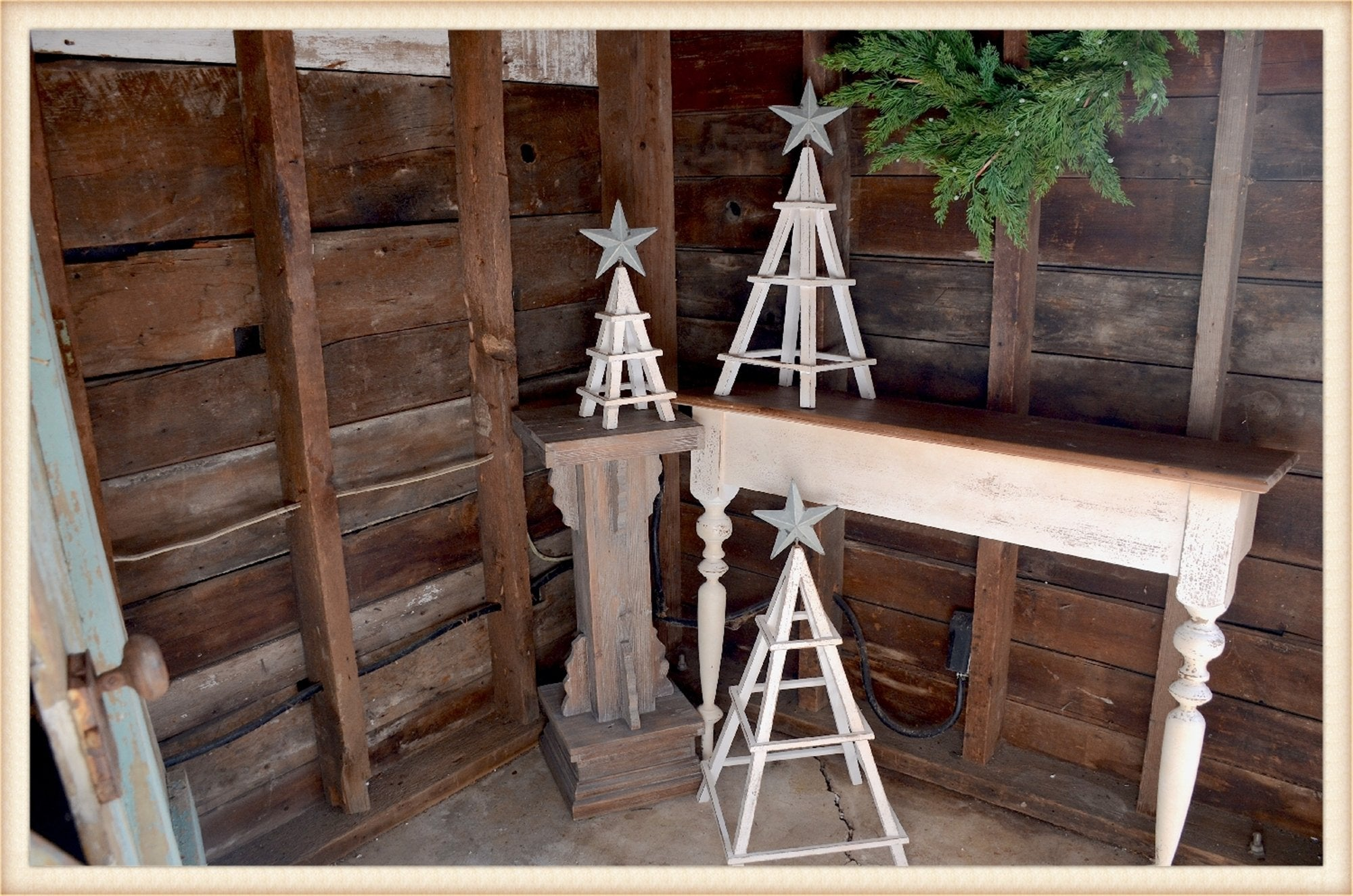 Christmas Tree Trellis S/3 - Seasonal-Holiday