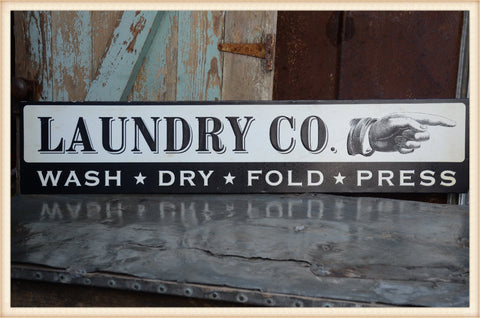 Laundry Co. Long Sign