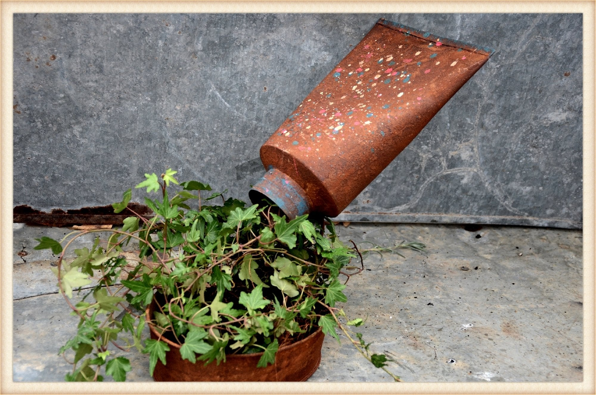 Paint Tube Planter