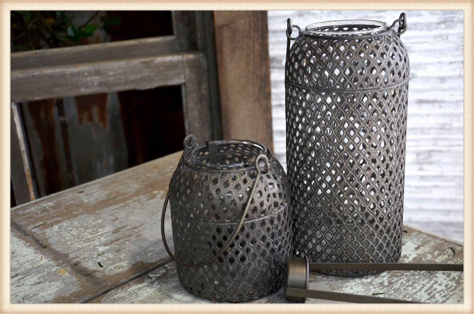 Tall Burnished Rattan Vessel