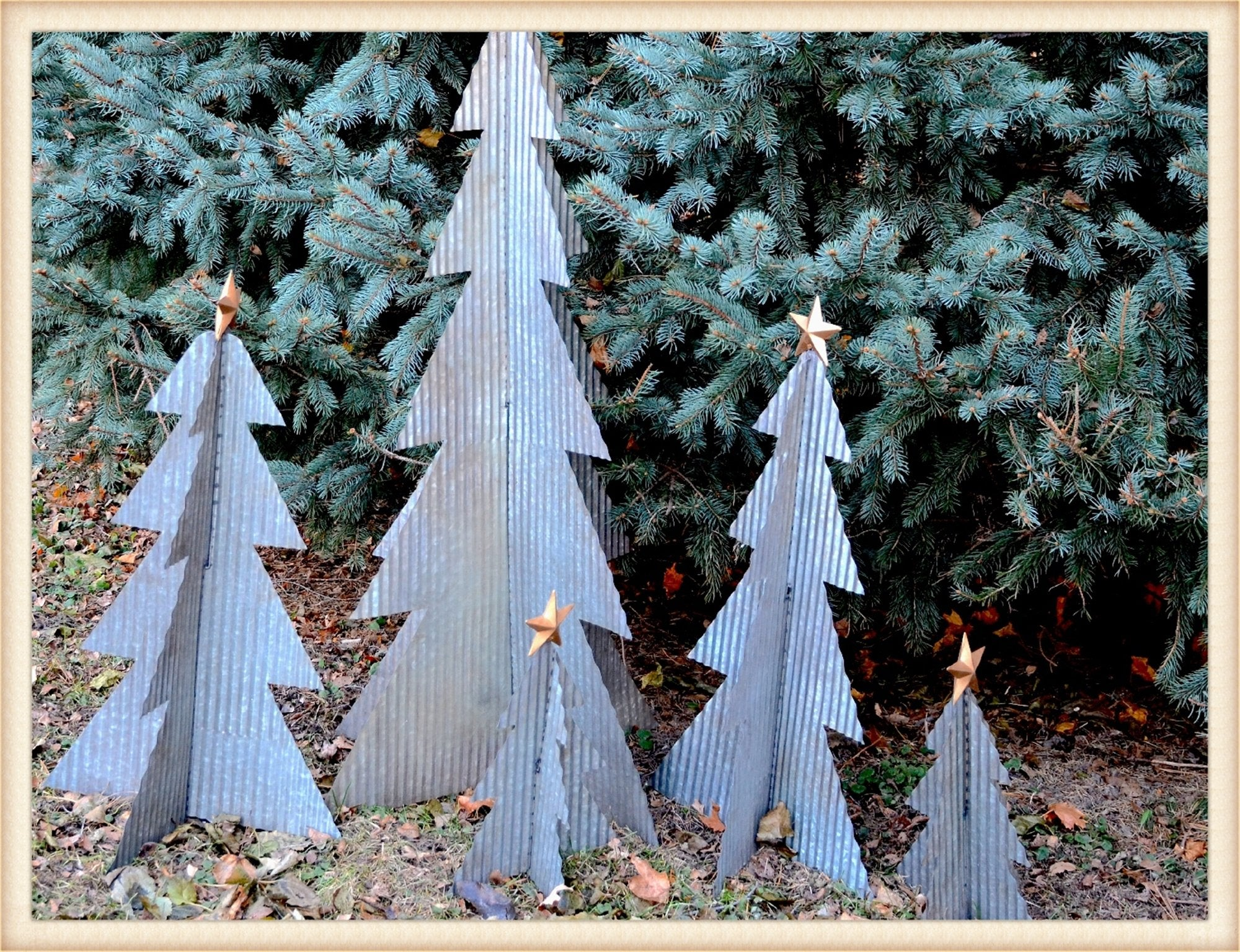 Corrugated Trees S/3