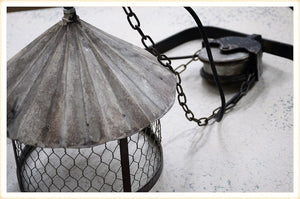 Metal Pulley Sconce