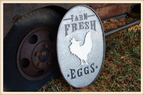 Huge Fresh Eggs Sign