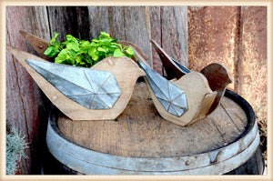 Bird Box Planter S/2