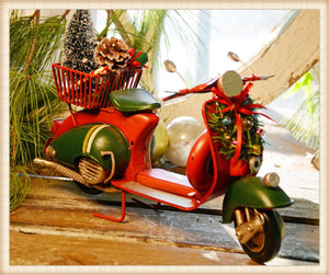 Santa Scooter - Seasonal-Holiday
