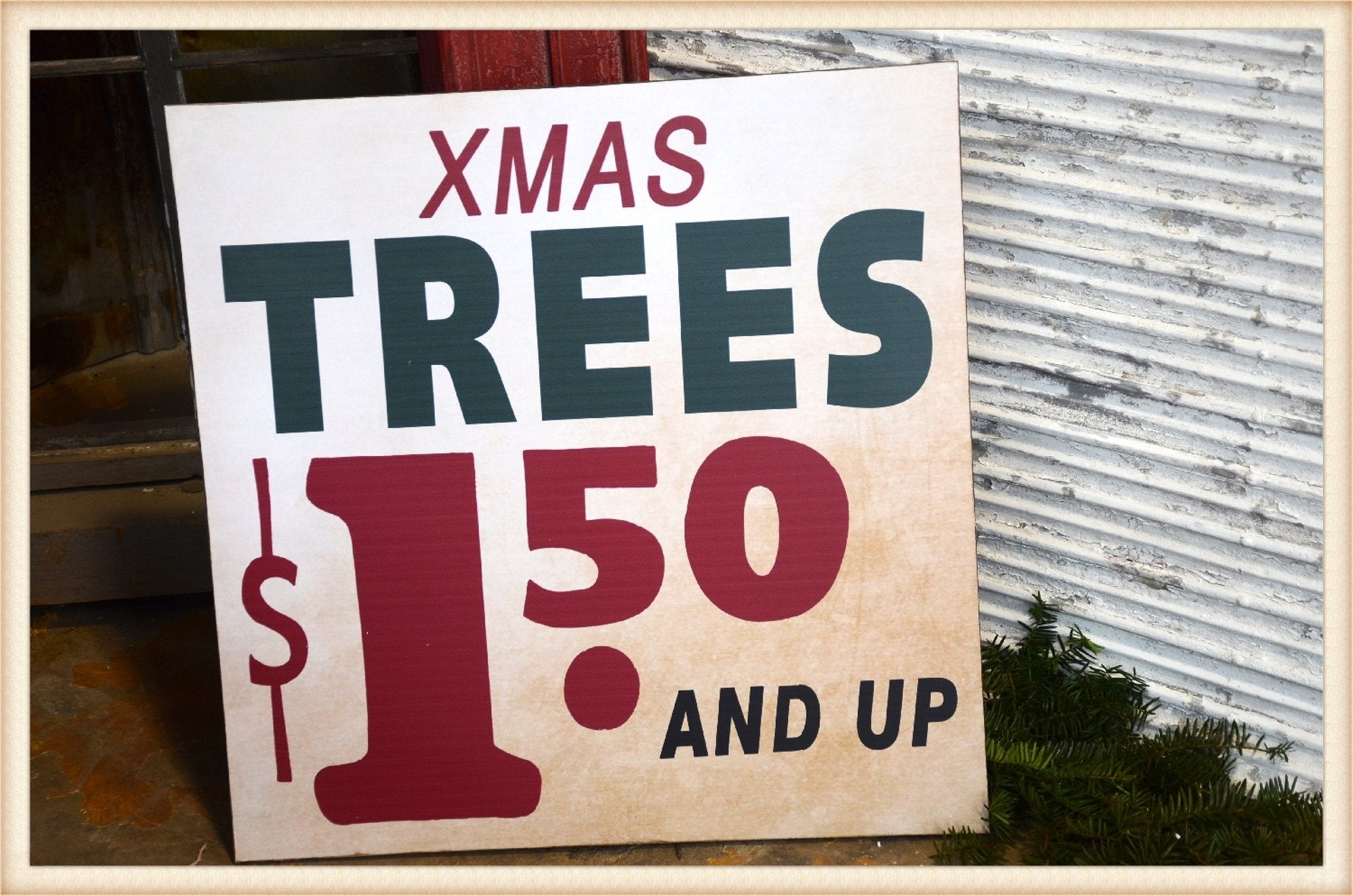 Xmas Tree Sign - Seasonal-Holiday