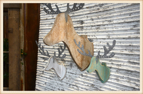 Metal Antler Deer S/3 - Seasonal-Holiday