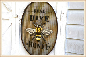 Oval Hive Sign