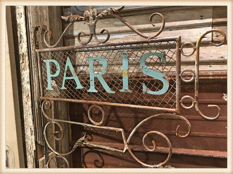 Turquoise Paris Mesh Sign