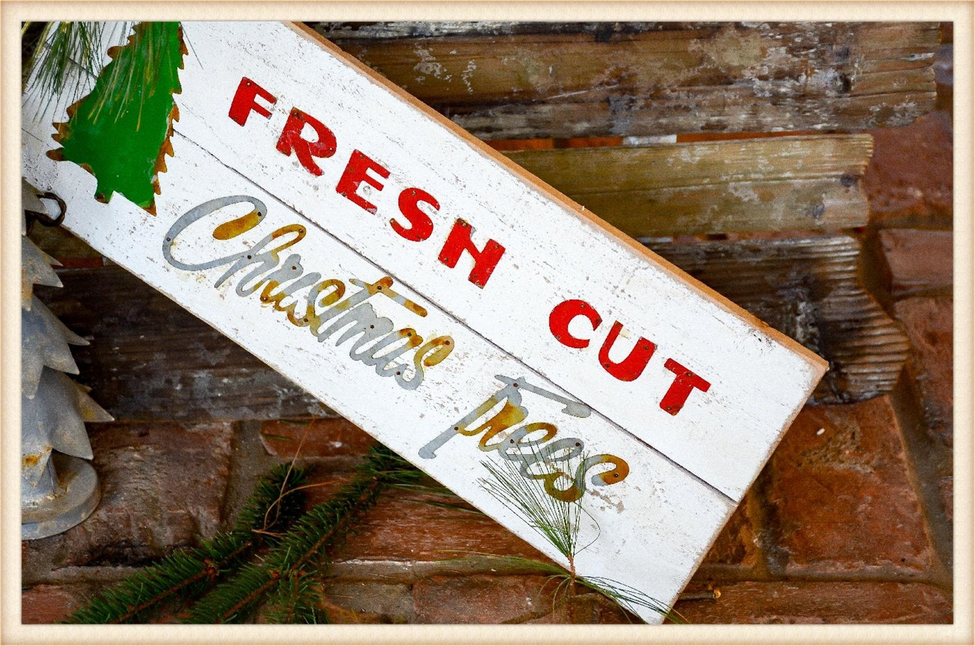 Fresh Cut Tree Sign - Seasonal-Holiday
