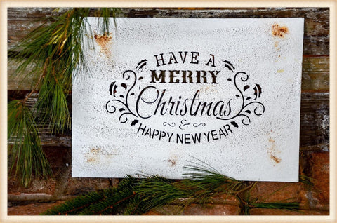 Merry Christmas Cut Plaque - Seasonal-Holiday