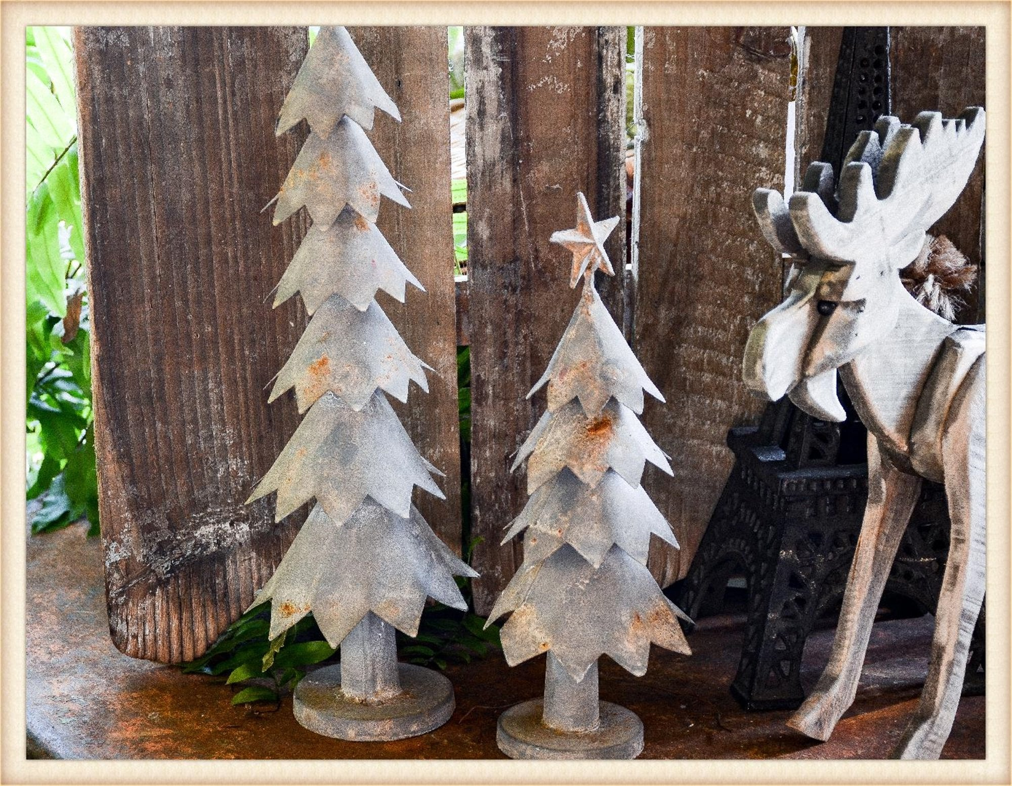Metal Tree S/2 - Seasonal-Holiday