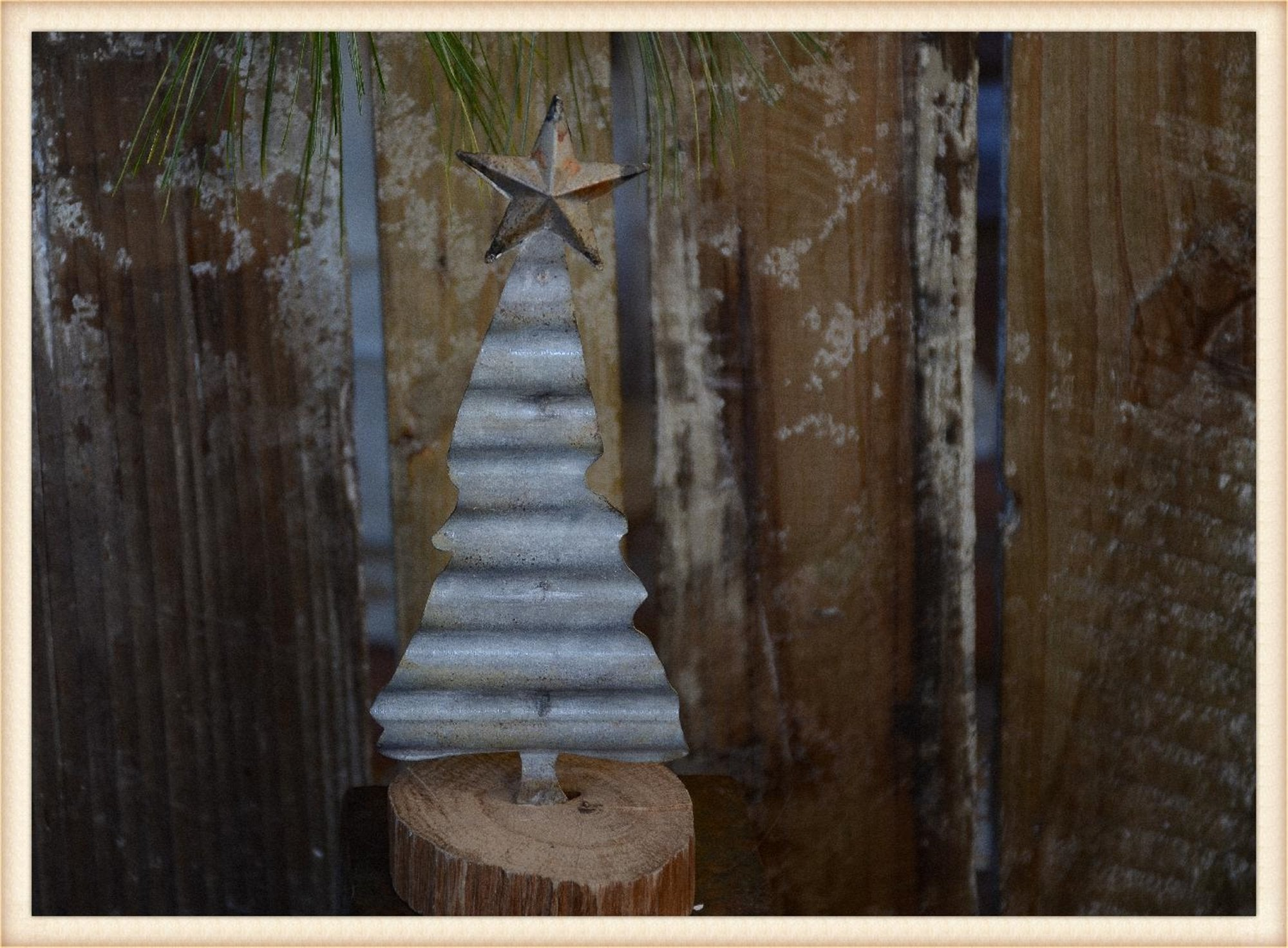 Corrugated Tree S/2 - Seasonal-Holiday