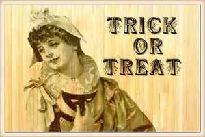Trick or Treat Bamboo Mat 3X5 - Seasonal-Fall