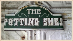 Potting Shed Curved Sign