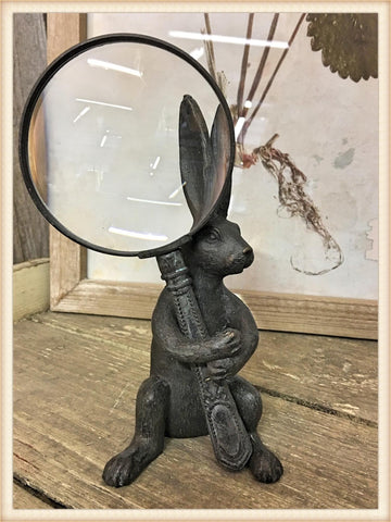 Rabbit Holder and Magnifying Glass
