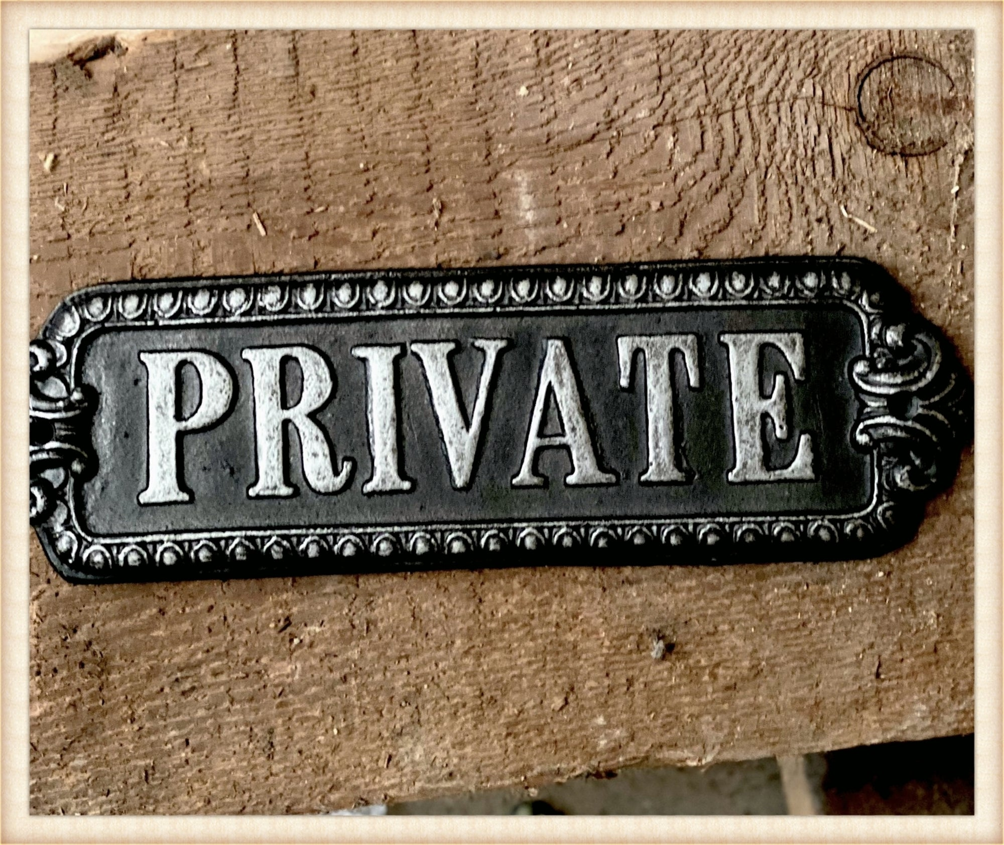 Cast PRIVATE Plaque