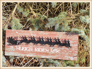 Sleigh Ride SIgn - Seasonal-Holiday