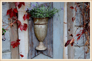 Distressed Wall Vase