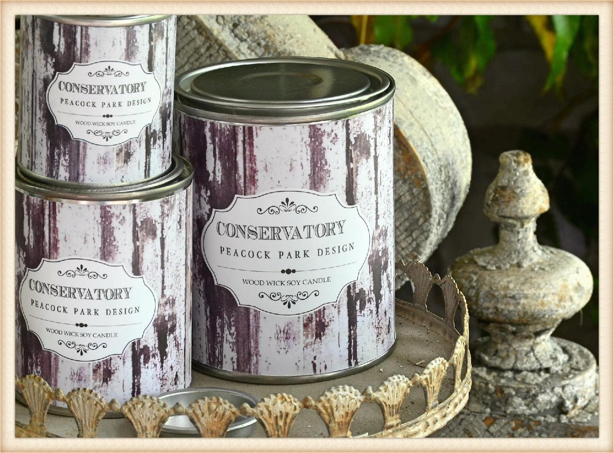 Can Soy Candle Medium Conservatory