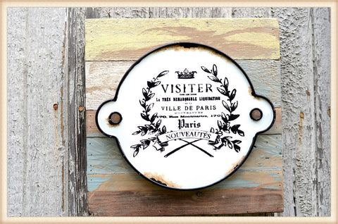 Enamel Visiter Sign