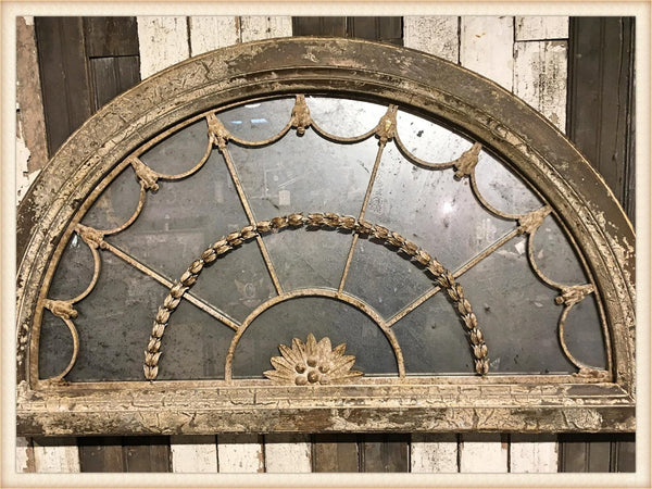 French Half Round Grillwork Mirror-Pick Up Only!