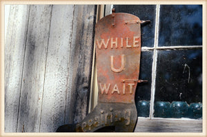 Wait Boot Plaque