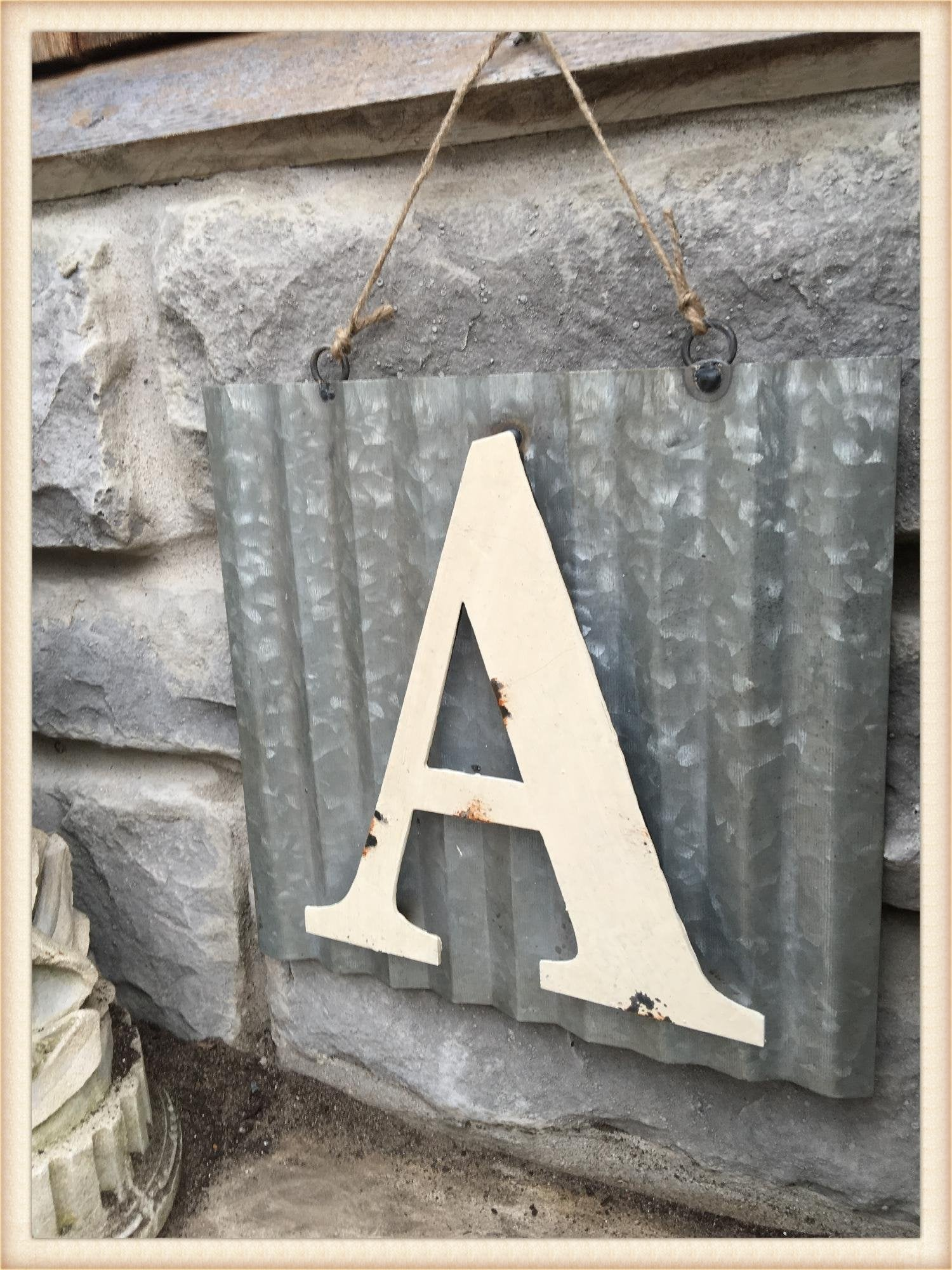 Tin Roof Letter A
