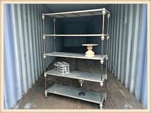 Pick Up Only-Rolling French Five Shelf Patisserie Rack*