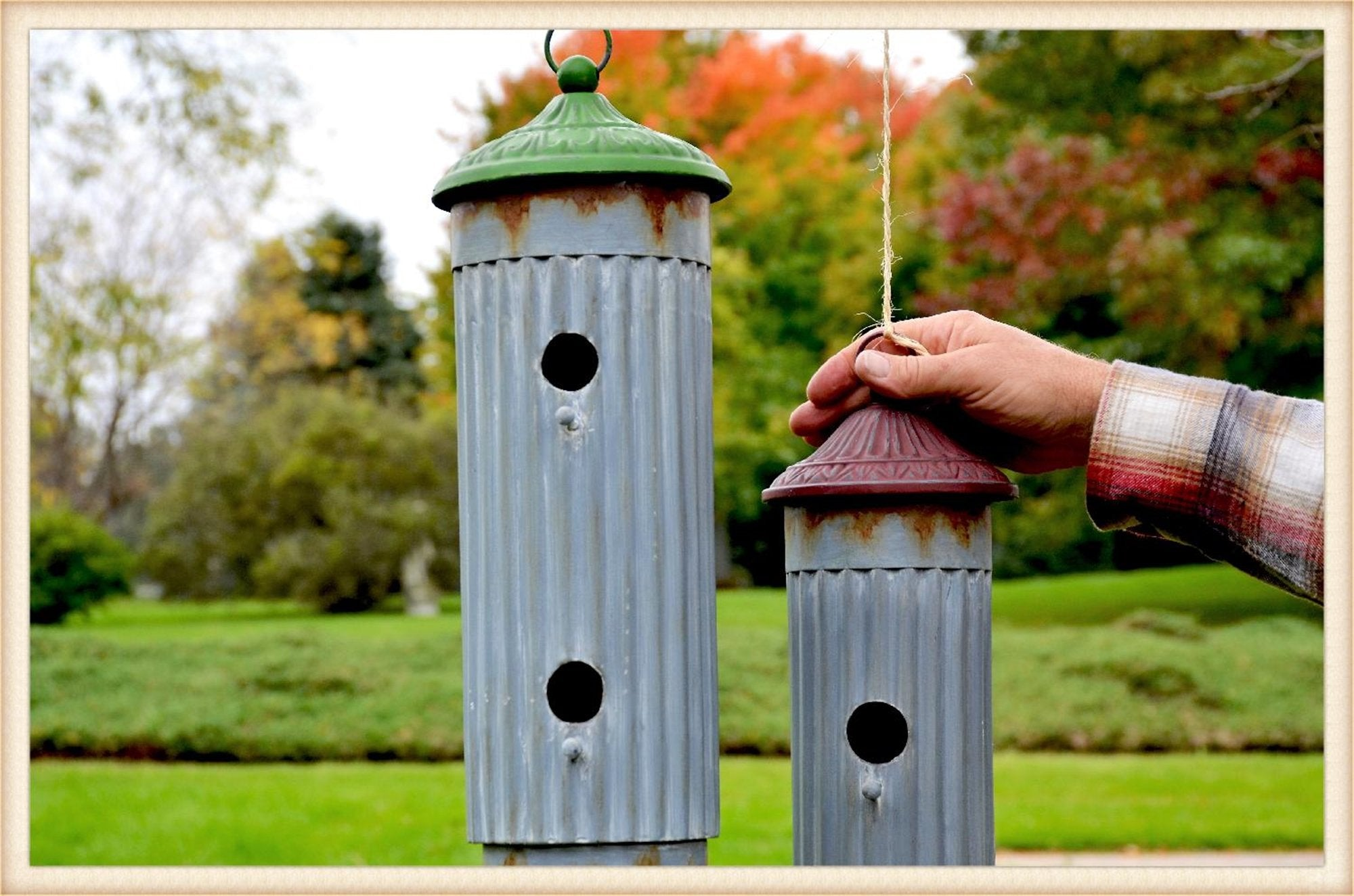 Double Cylinder Birdhouse