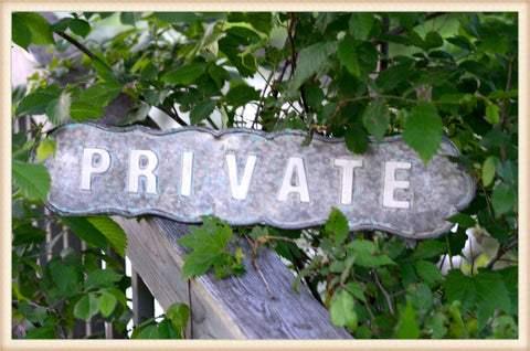 Scalloped Private Sign
