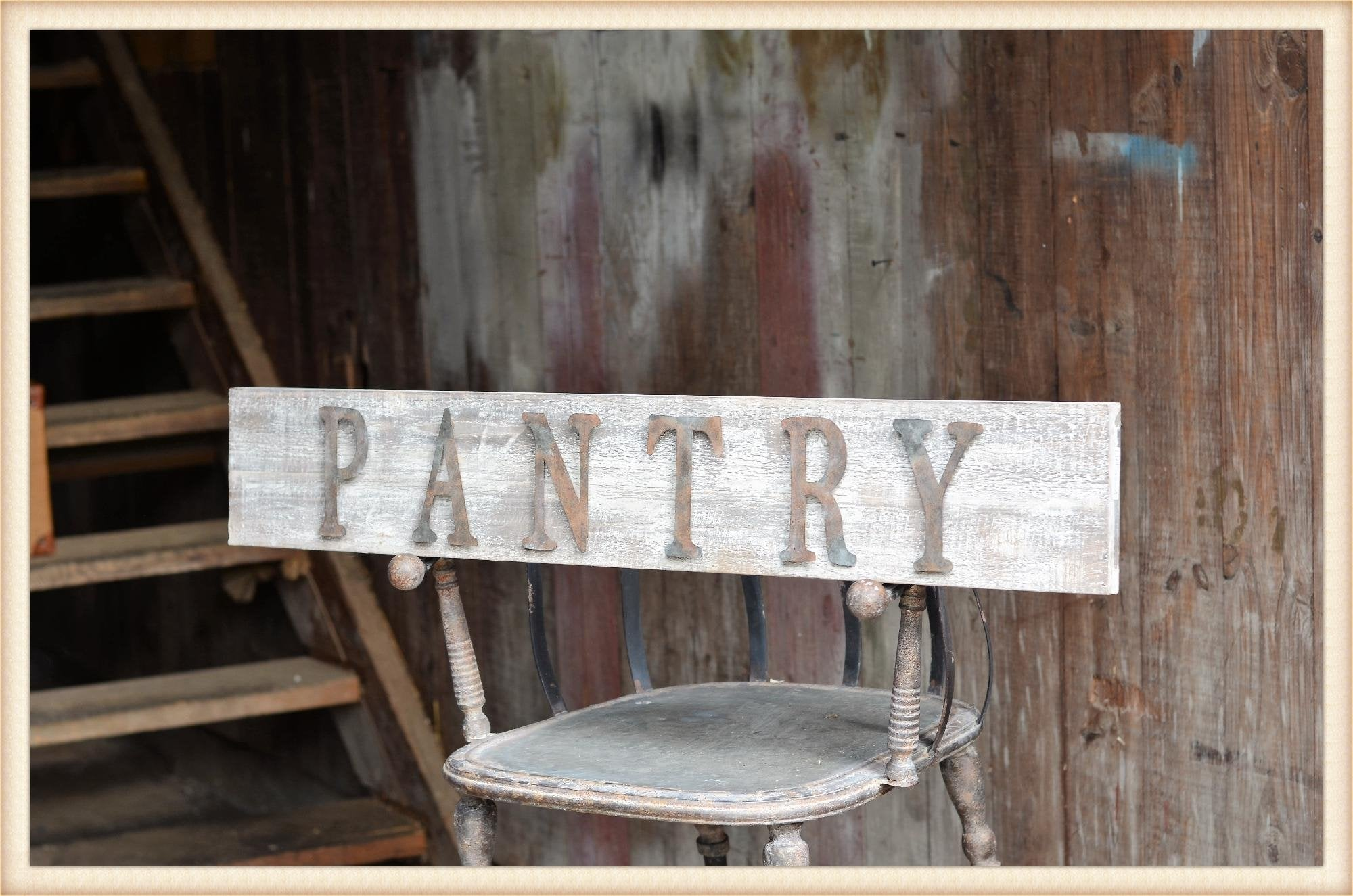 Tin Letter Pantry Sign