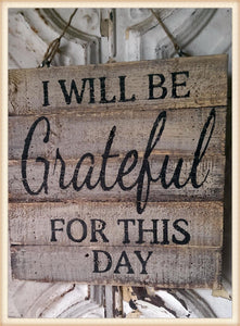 Grateful Plaque